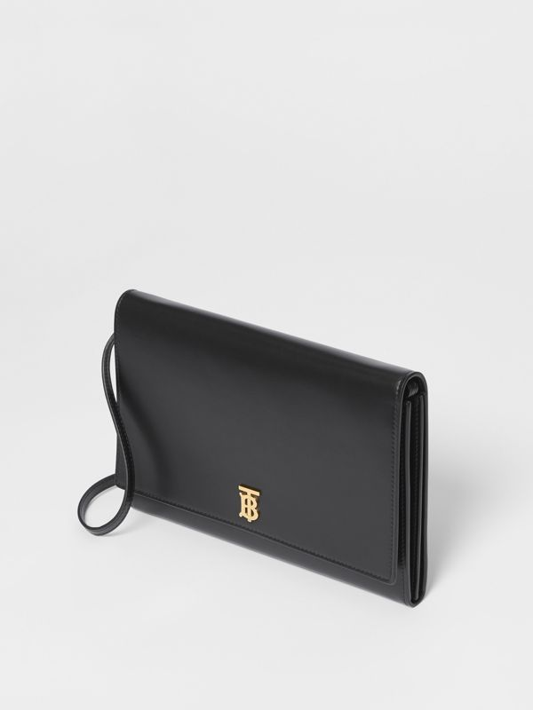 Monogram Motif Leather Bag with Detachable Strap in Black - Women | Burberry United Kingdom - cell image 3
