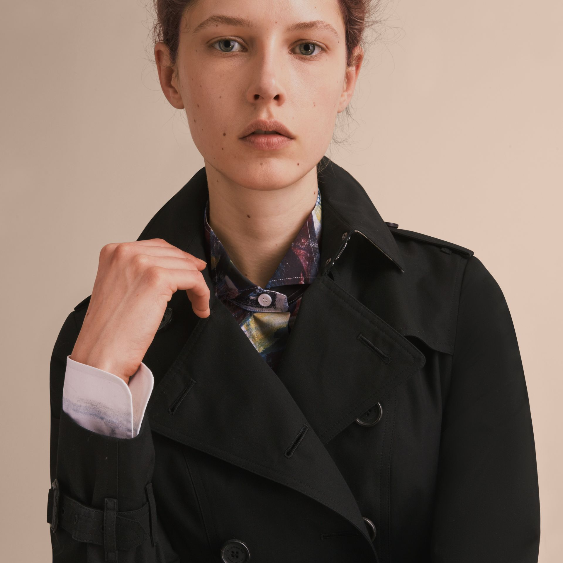 The Sandringham – Long Heritage Trench Coat Black - gallery image 6