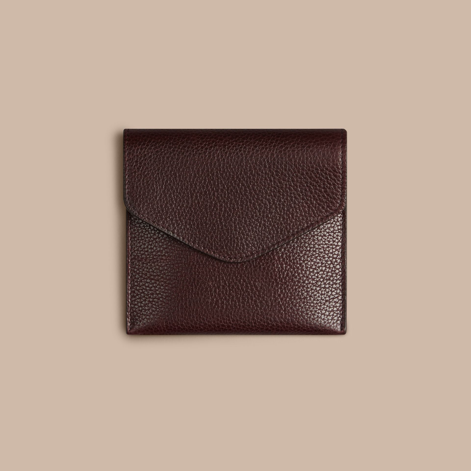 Grainy Leather Cufflink Case in Ebony Red - Men | Burberry - gallery image 2