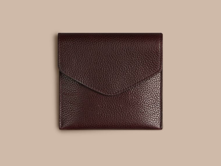 Grainy Leather Cufflink Case in Ebony Red - Men | Burberry - cell image 1