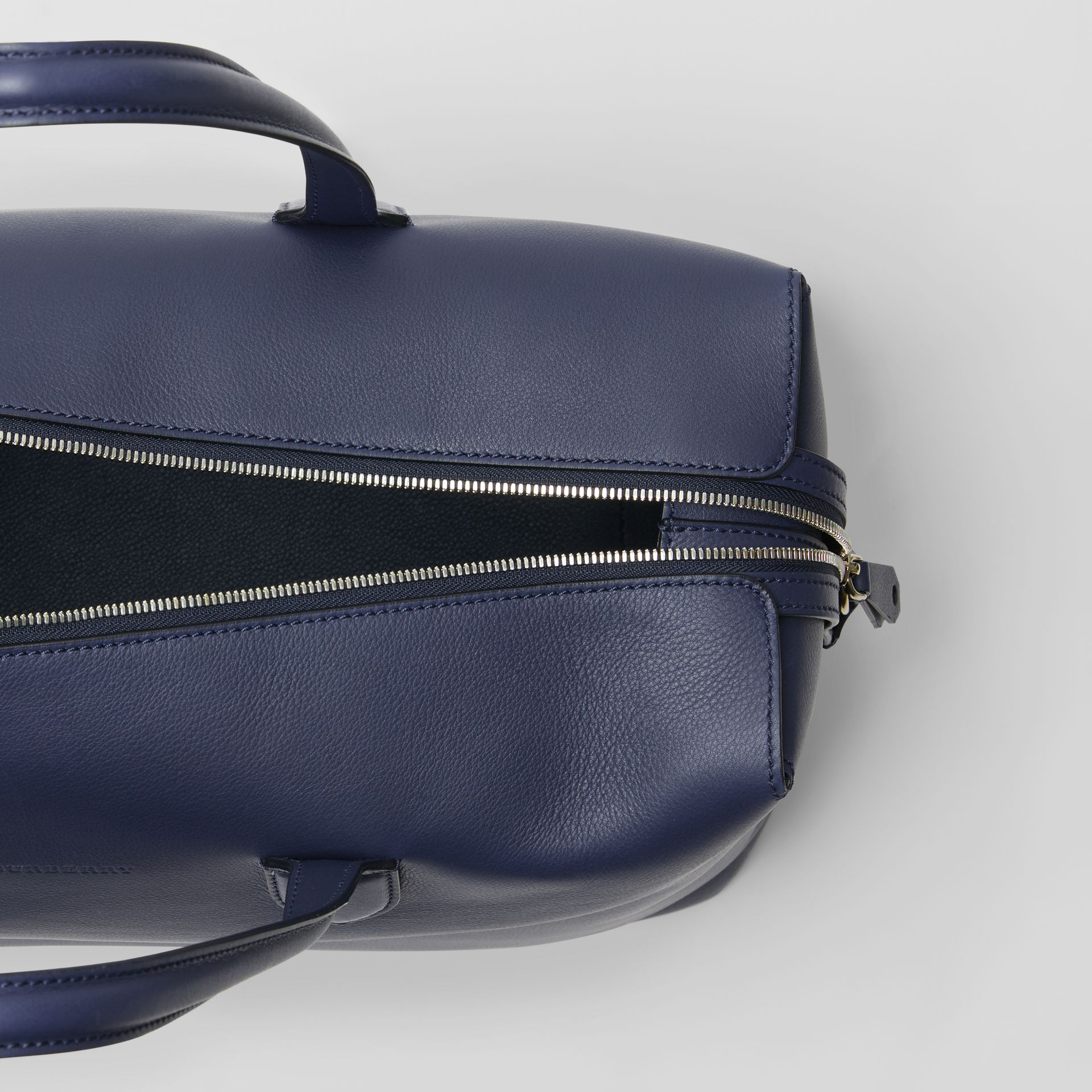Soft Leather Holdall in Regency Blue - Men | Burberry - gallery image 4