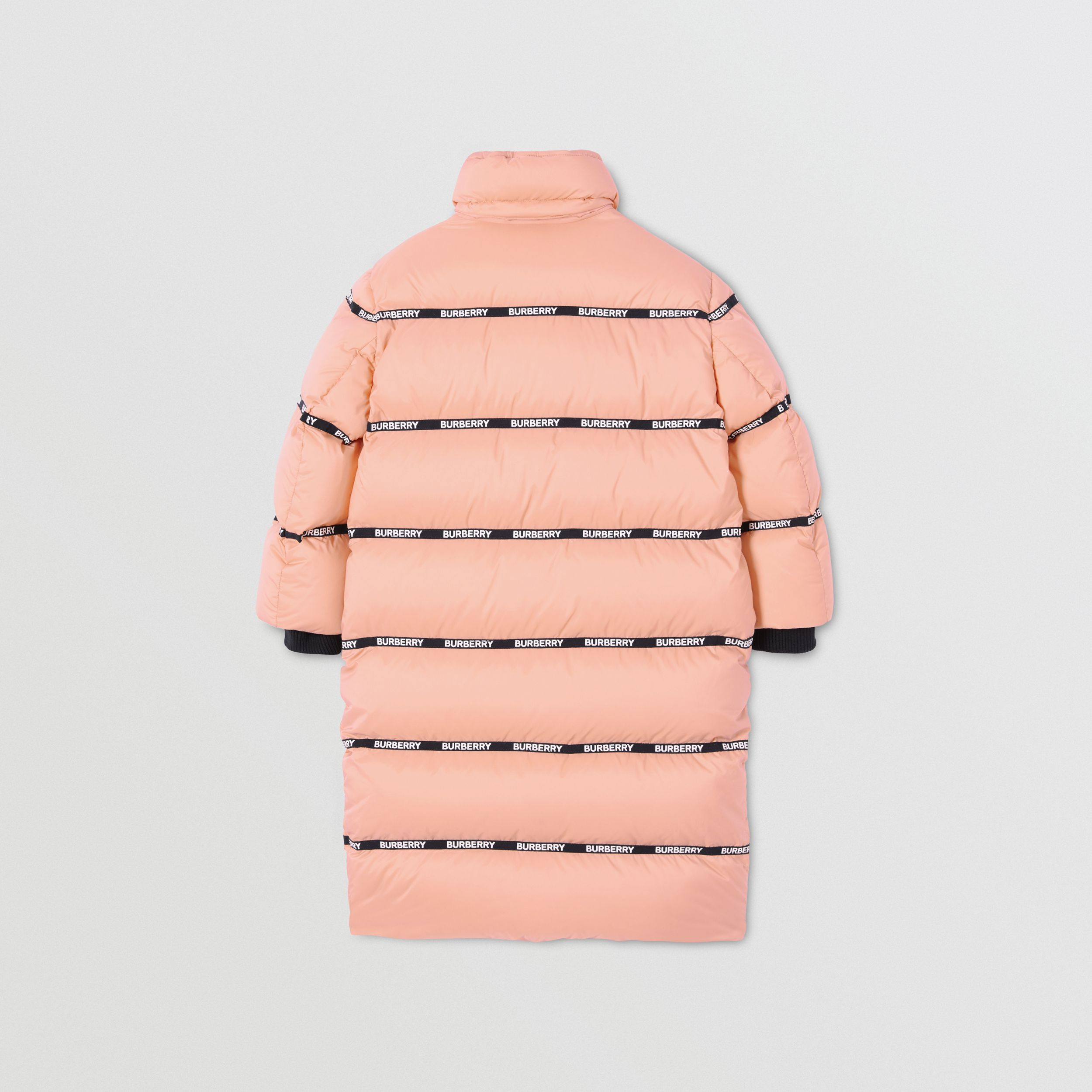 Detachable Hood Logo Tape Puffer Coat | Burberry - 4