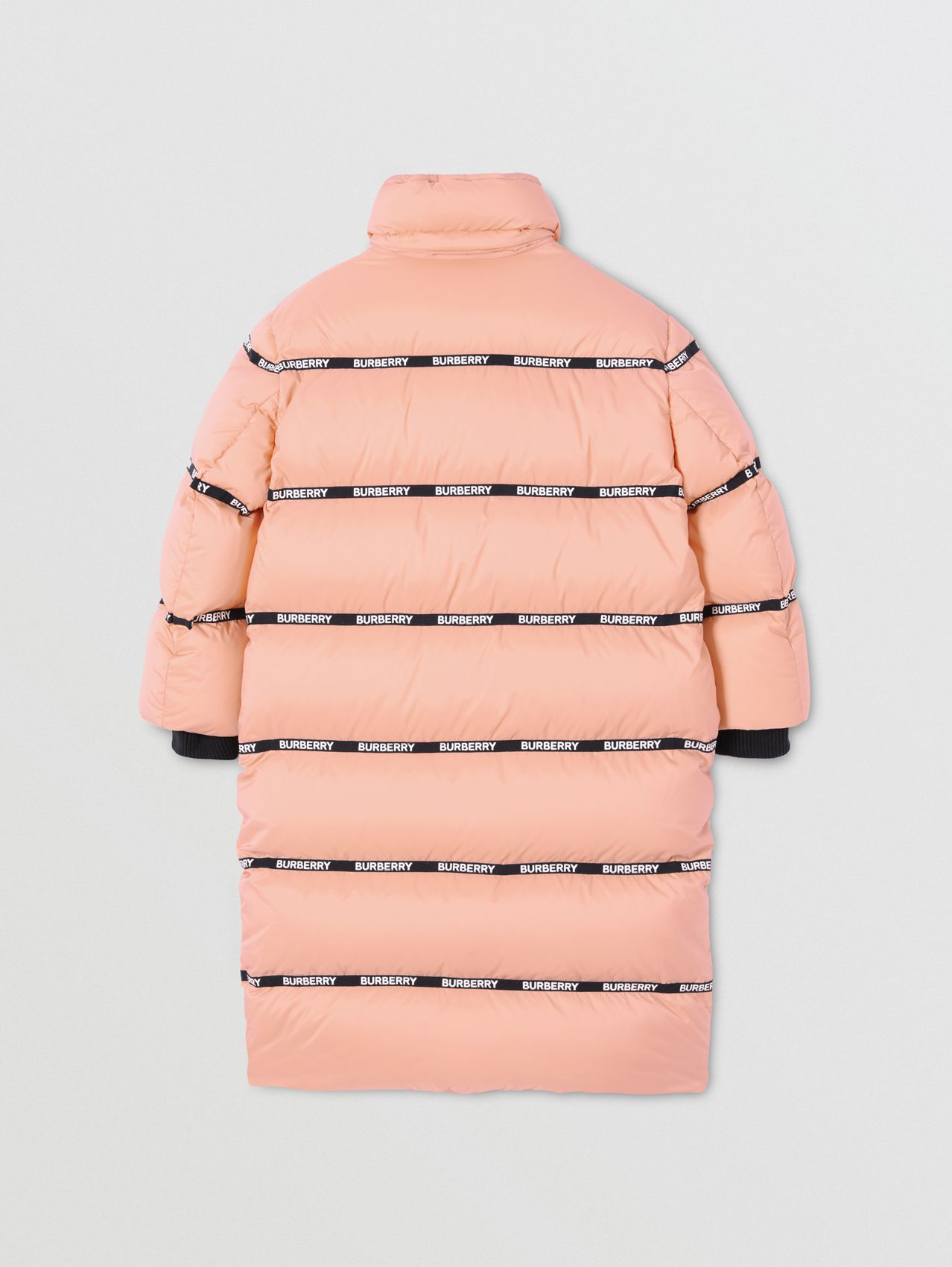 Detachable Hood Logo Tape Puffer Coat
