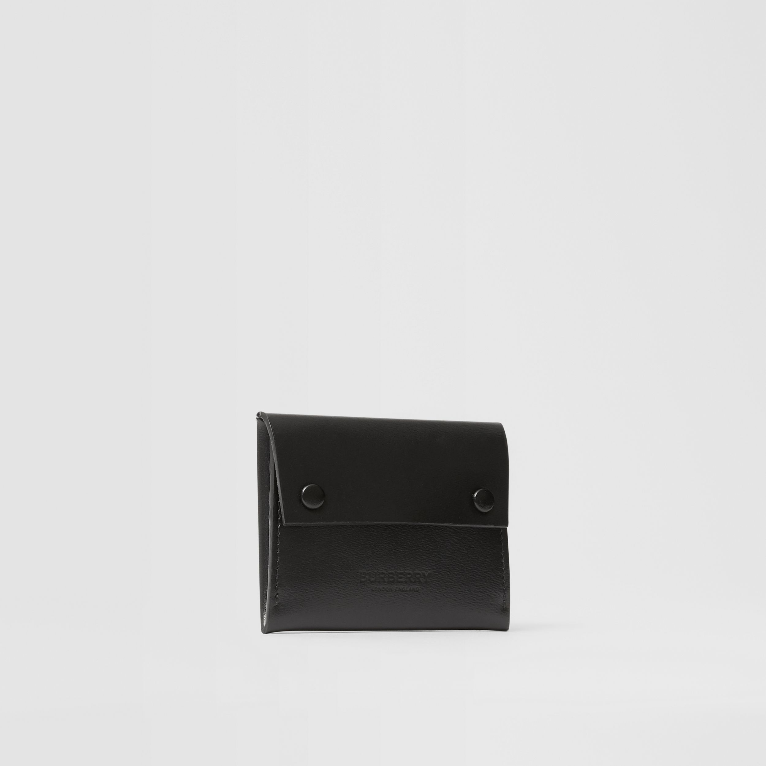 Leather Envelope Card Case in Black - Men | Burberry - 4
