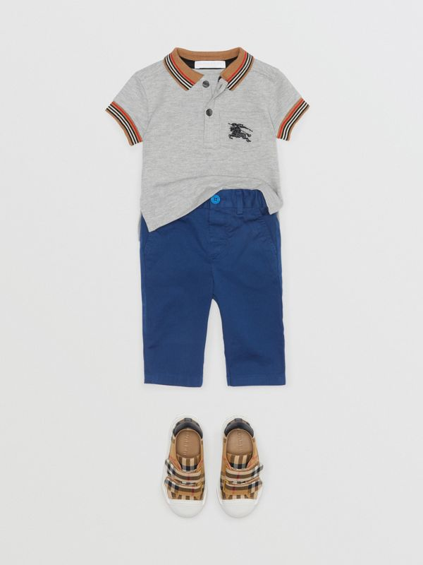 Cotton Chinos in Bright Navy - Children | Burberry - cell image 2