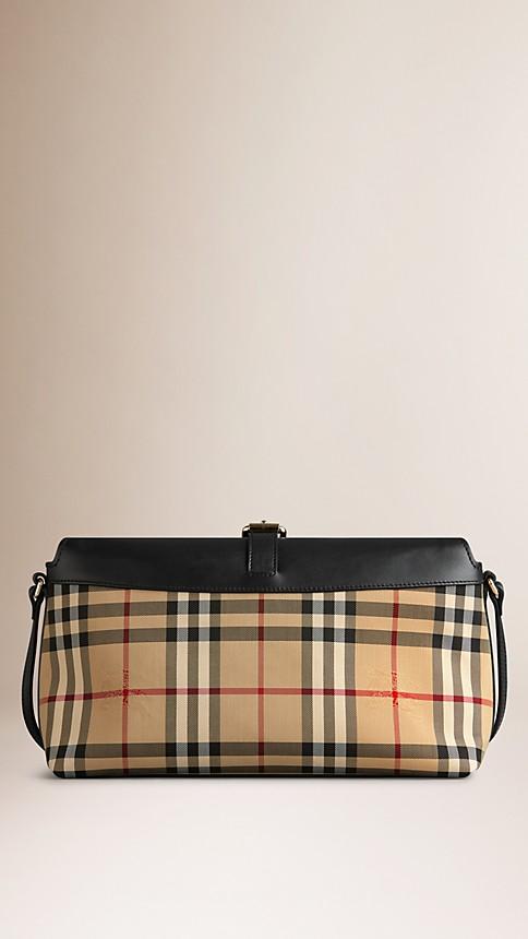 Honey/black Small Horseferry Check Clutch Bag - Image 2