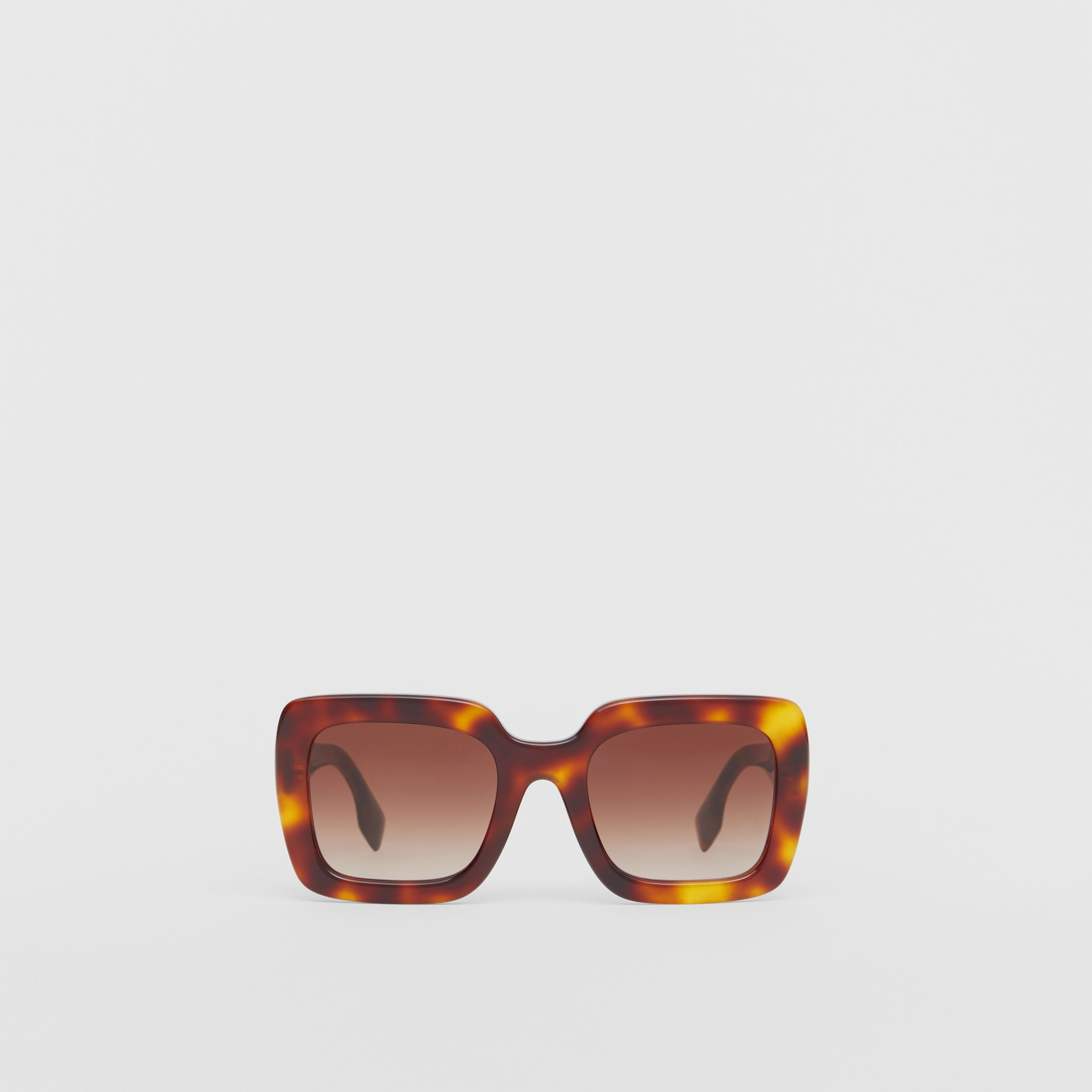 Oversized Square Frame Sunglasses in Tortoiseshell - Women | Burberry Australia - 1