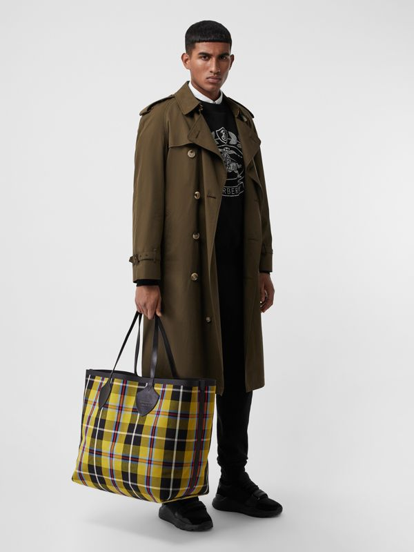 Borsa tote The Giant reversibile in cotone con motivo Vintage check (Giallo Antico) | Burberry - cell image 2