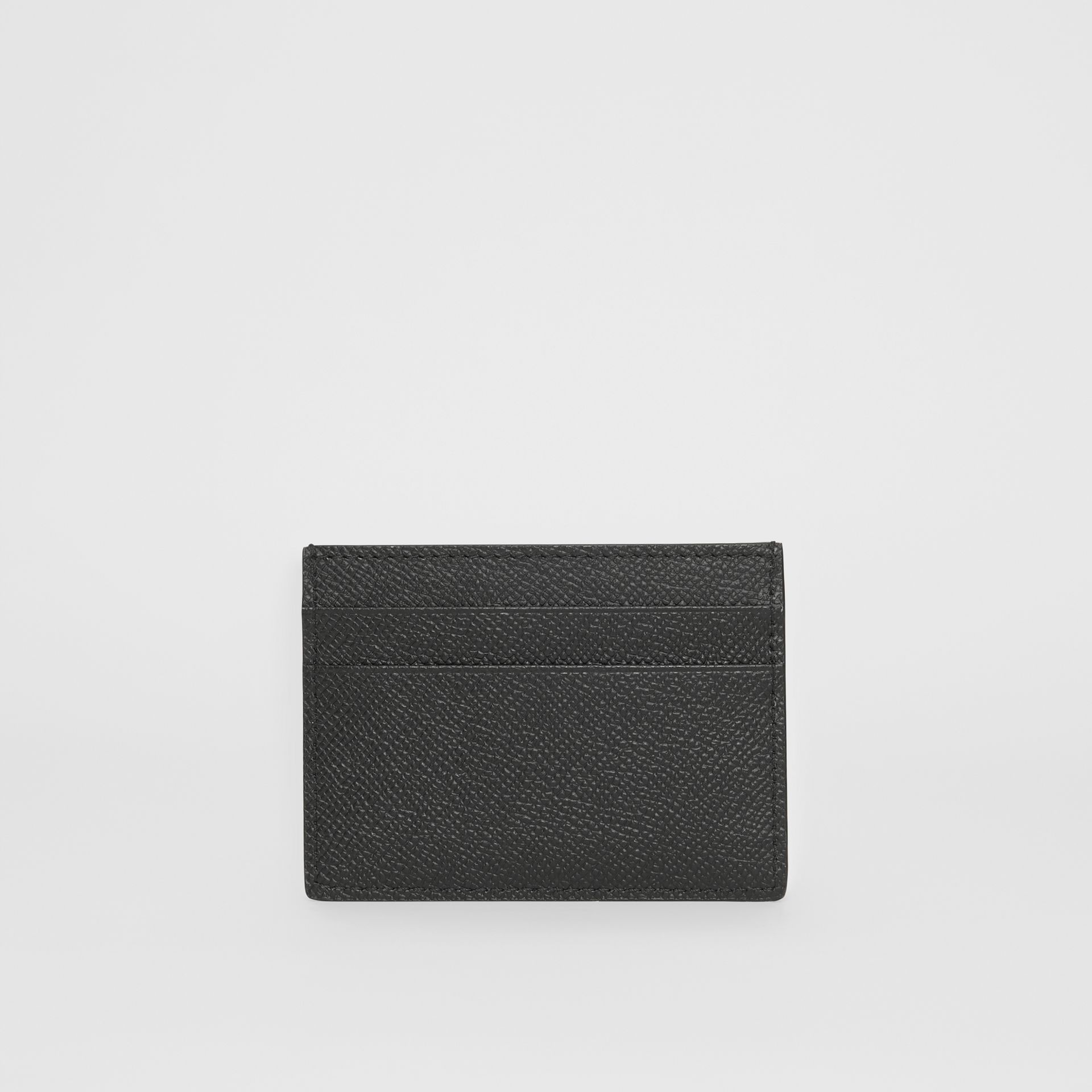 Grainy Leather Card Case in Black - Men | Burberry - gallery image 4