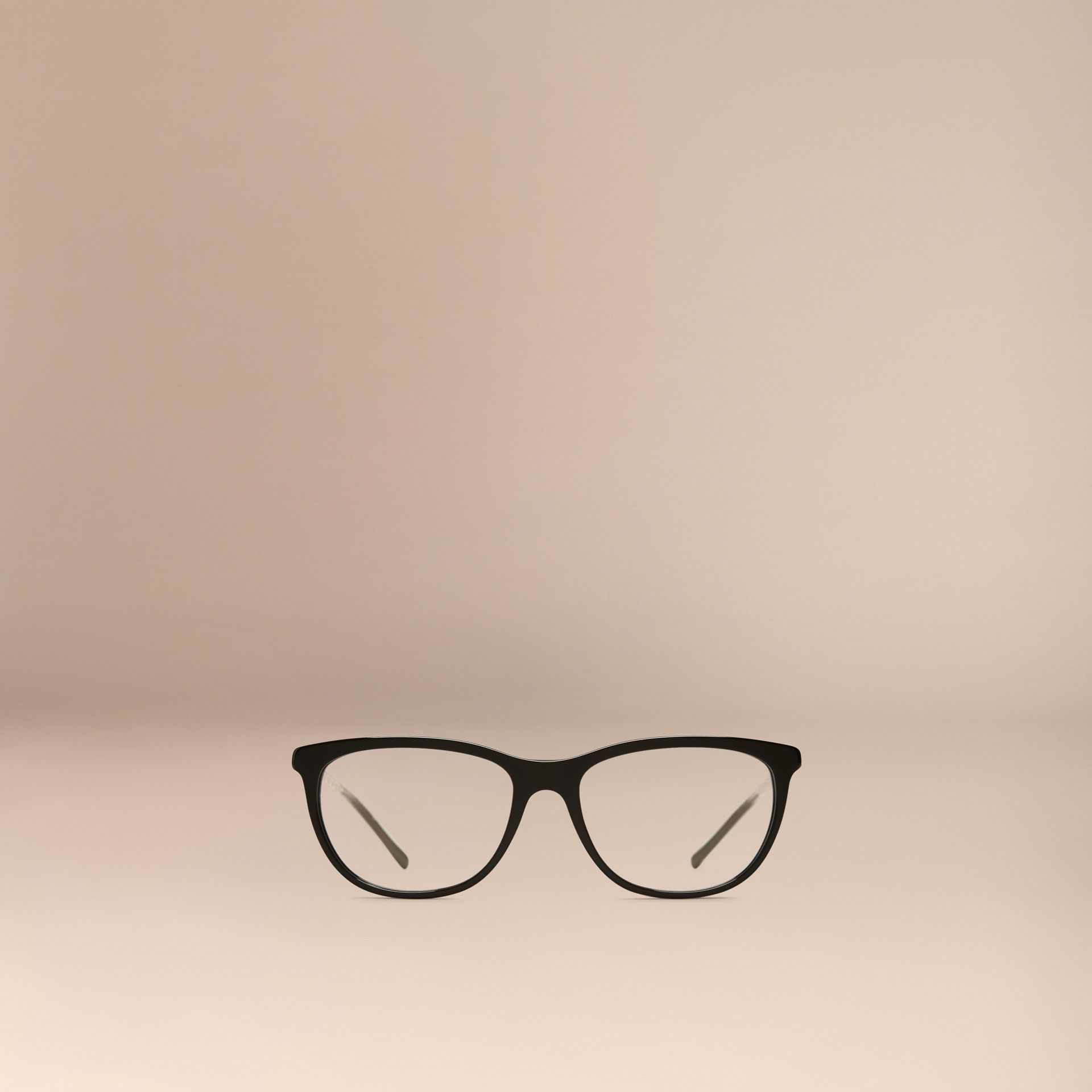 Black Gabardine Collection Cat-Eye Optical Frames Black - gallery image 2