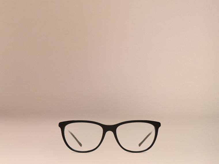 Black Gabardine Collection Cat-Eye Optical Frames Black - cell image 1
