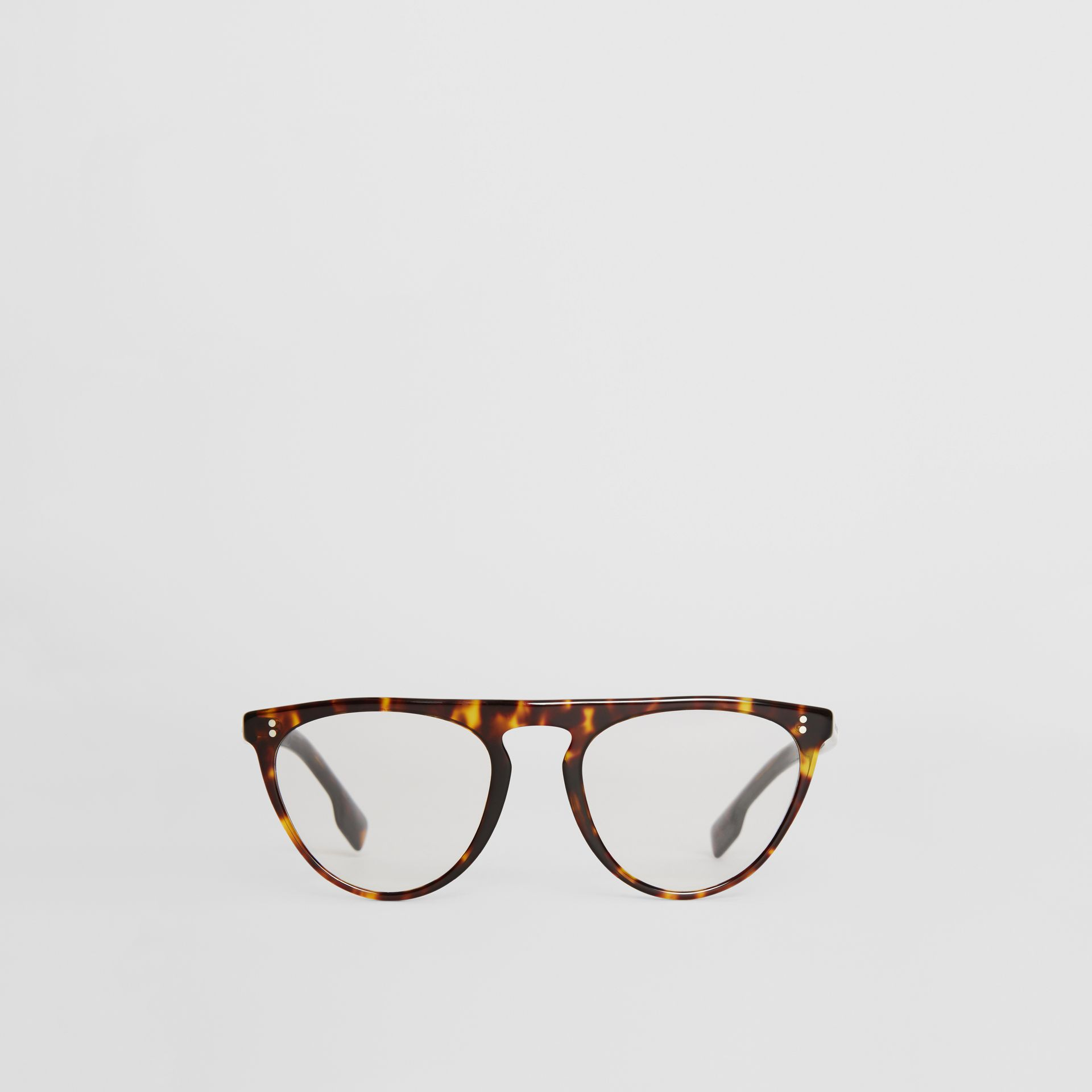 Keyhole D-shaped Optical Frames in Tortoise Shell - Men | Burberry - gallery image 0