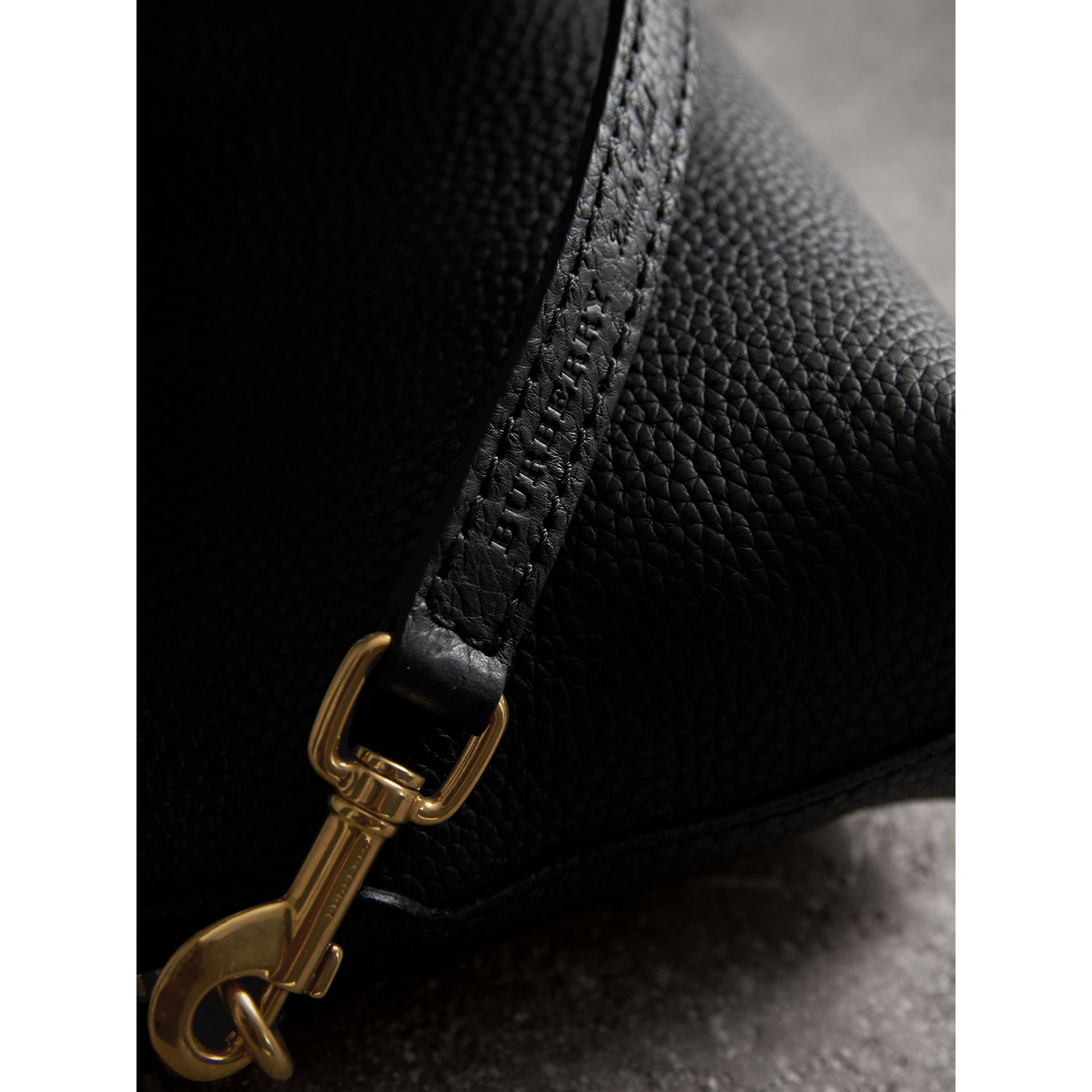 Embossed Leather Clutch Bag in Black - Women | Burberry - gallery image 2