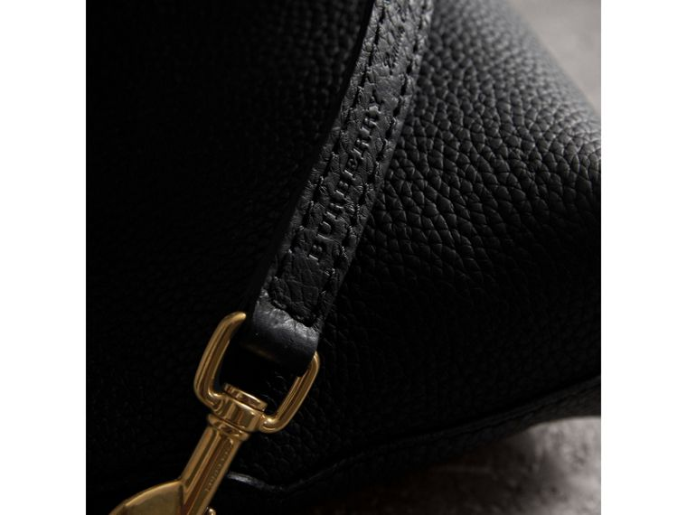 Embossed Leather Clutch Bag in Black - Women | Burberry Canada - cell image 1