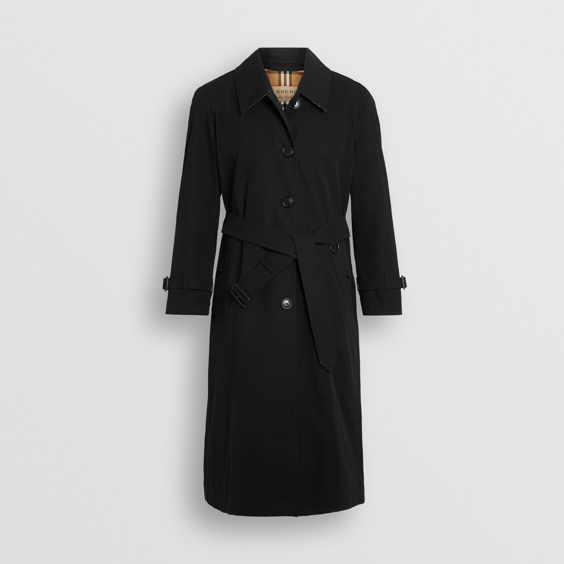 Side-slit Tropical Gabardine Trench Coat in Black - Women | Burberry United Kingdom - gallery image 3