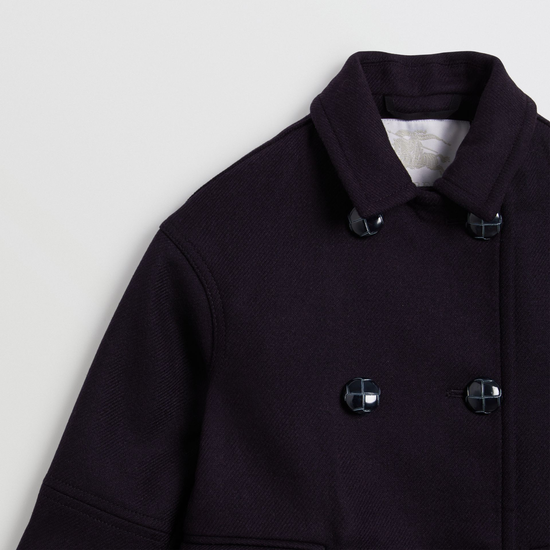 Double-faced Wool Pea Coat in Navy | Burberry - gallery image 5