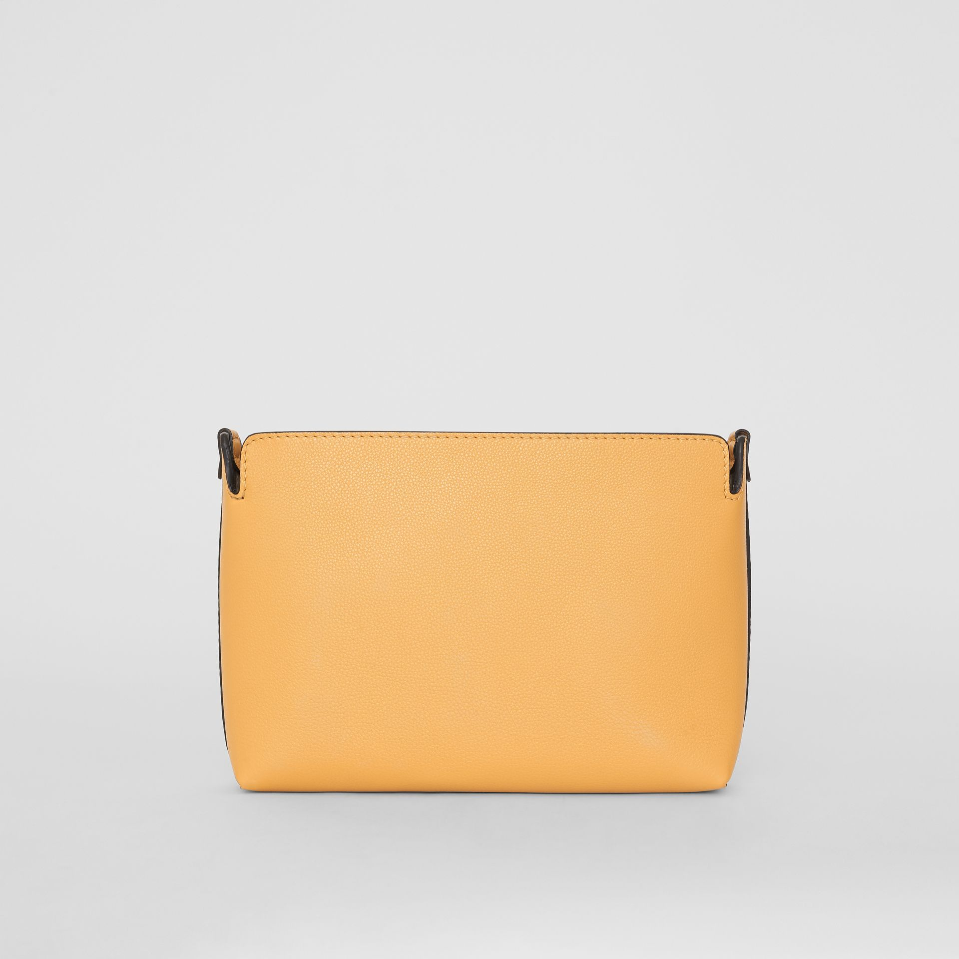 Medium Tri-tone Leather Clutch in Limestone/cornflower Yellow | Burberry - gallery image 5