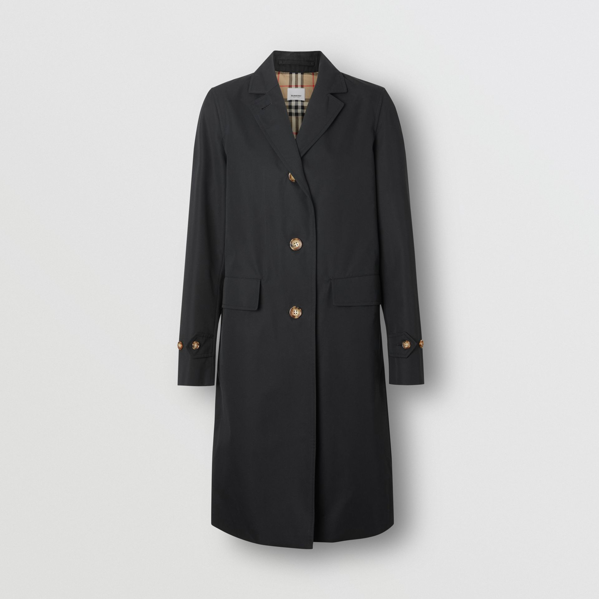 Cotton Gabardine Car Coat in Black - Women | Burberry - gallery image 3
