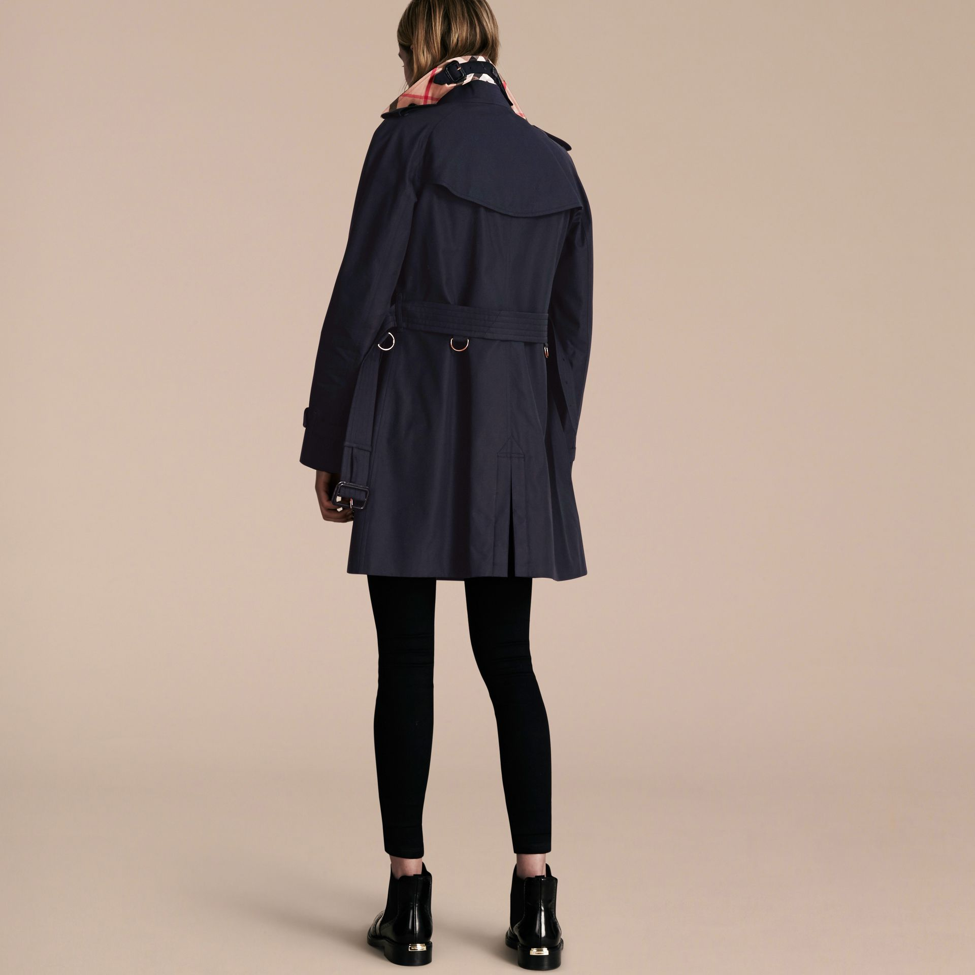 Navy The Westminster – Mid-Length Heritage Trench Coat Navy - gallery image 3