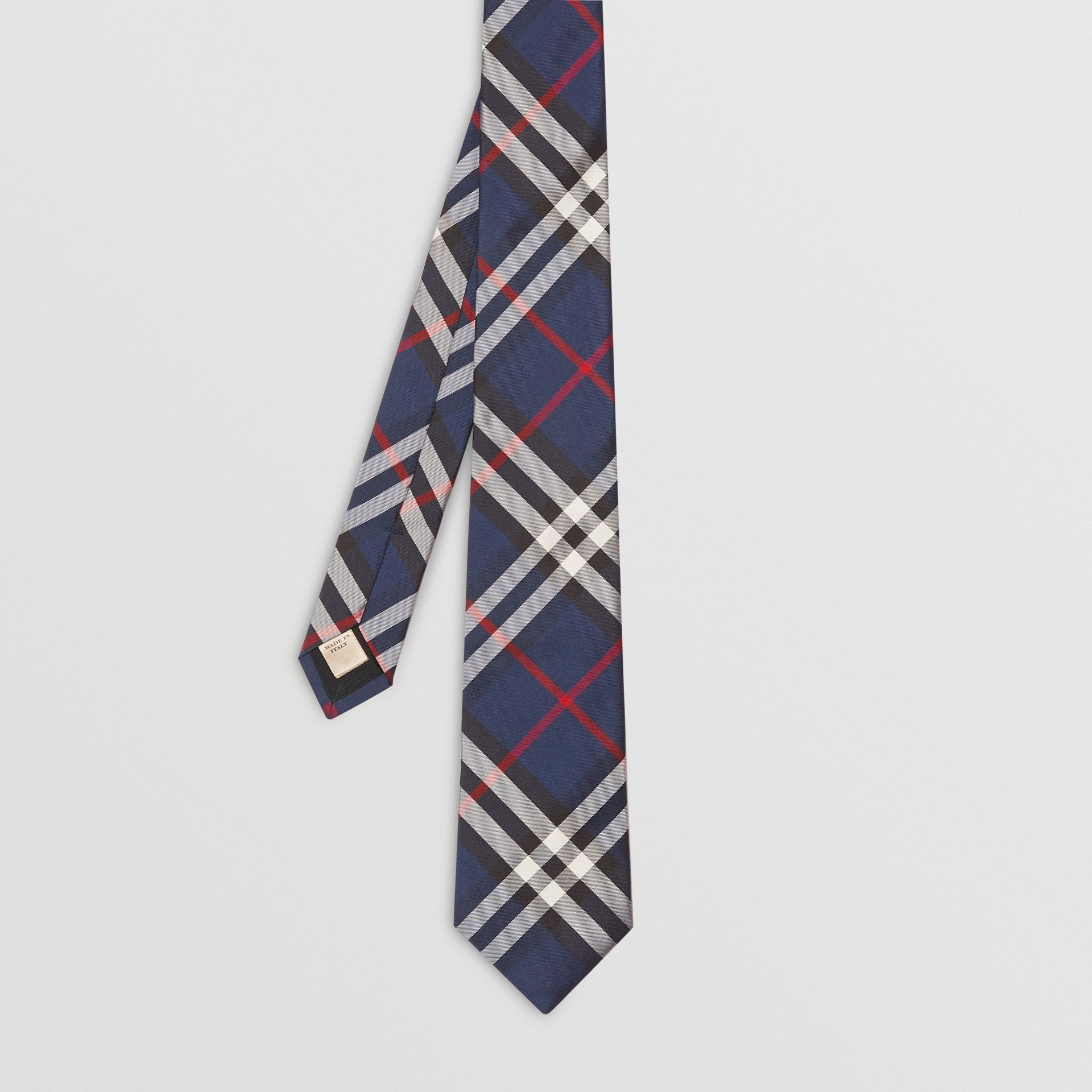 Modern Cut Vintage Check Silk Tie in Navy - Men | Burberry Singapore - gallery image 3
