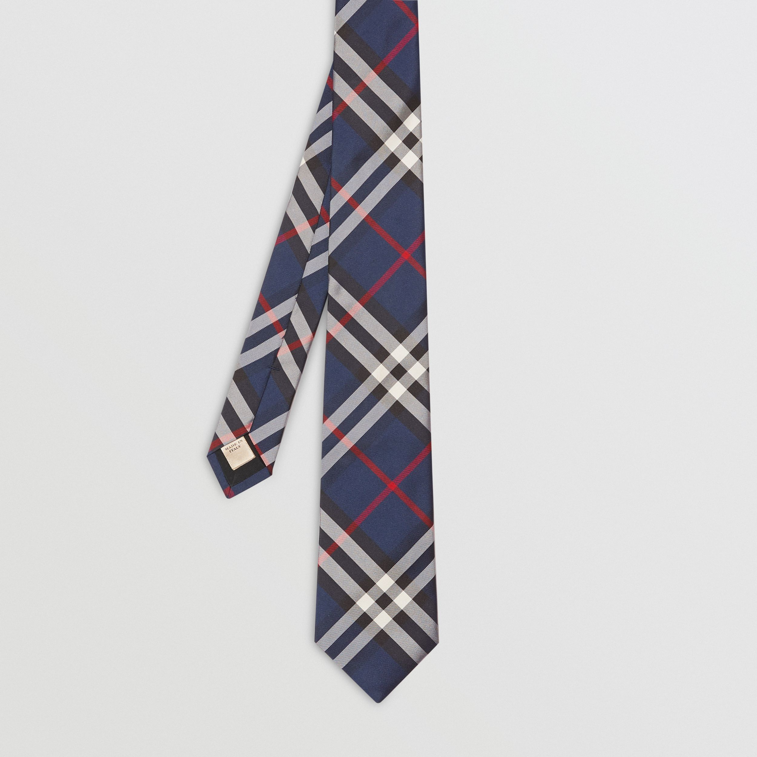 Classic Cut Vintage Check Silk Tie in Navy - Men | Burberry - 4