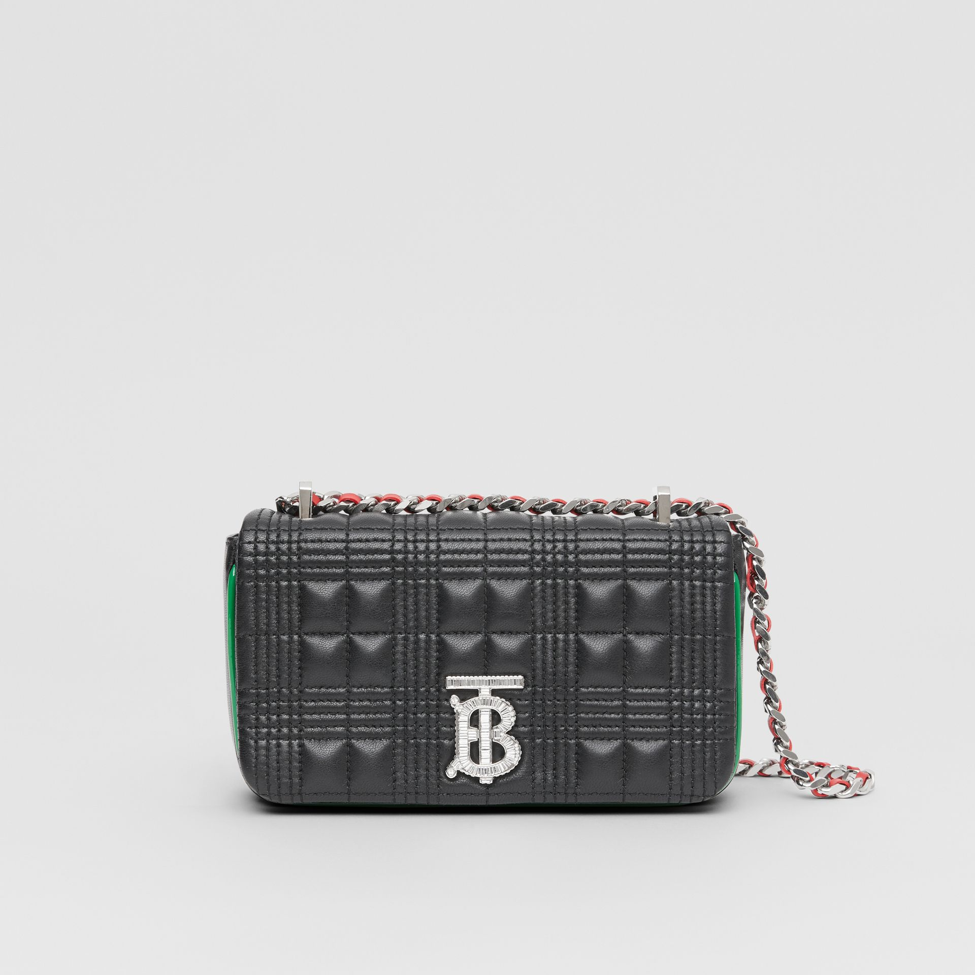Mini Quilted Lambskin Lola Bag in Black - Women | Burberry United States - gallery image 0