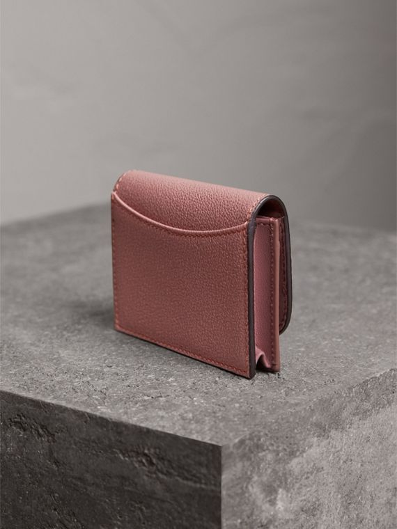 Grainy Leather Card Case in Dusty Pink - Women | Burberry United Kingdom - cell image 2