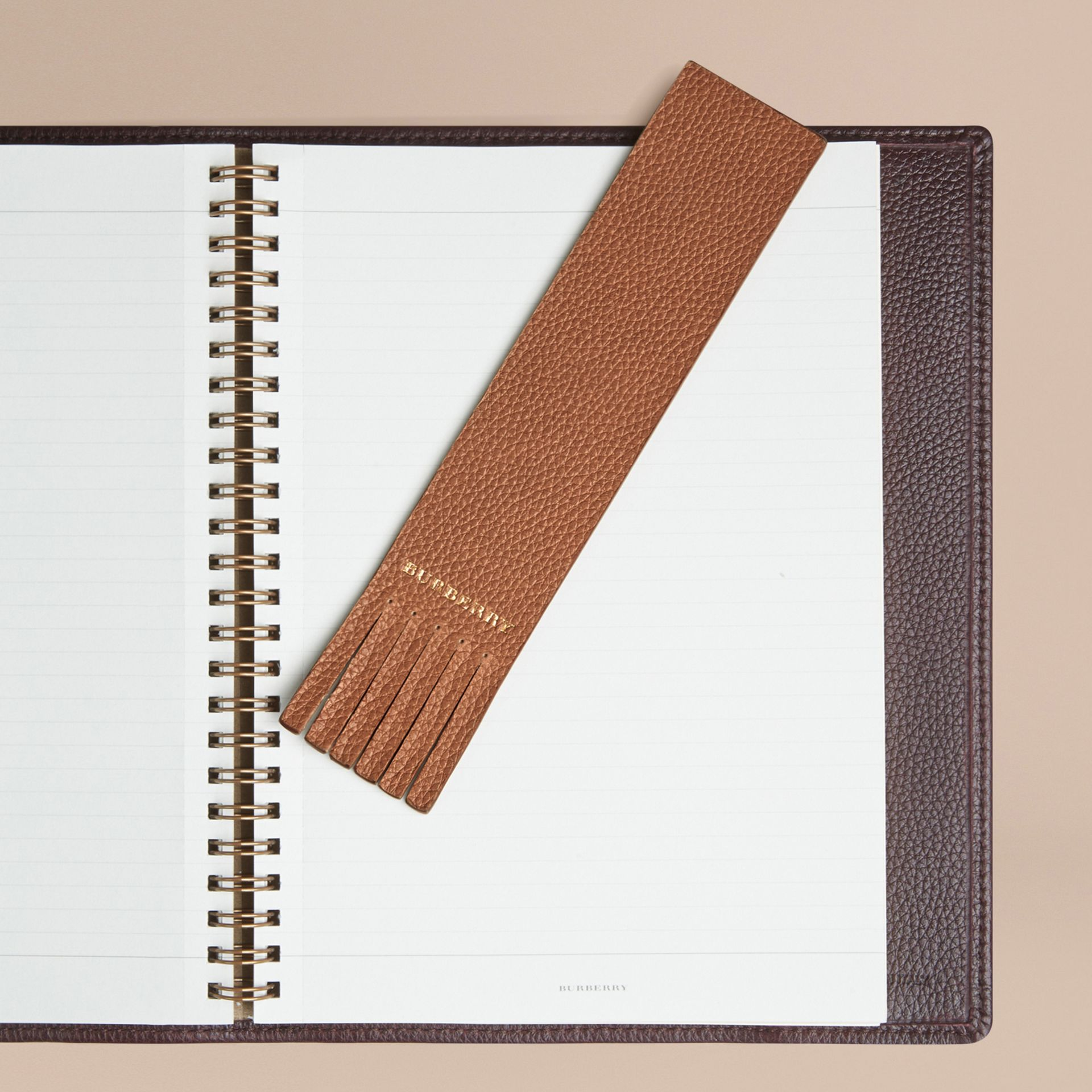 Tan Grainy Leather Bookmark - gallery image 3