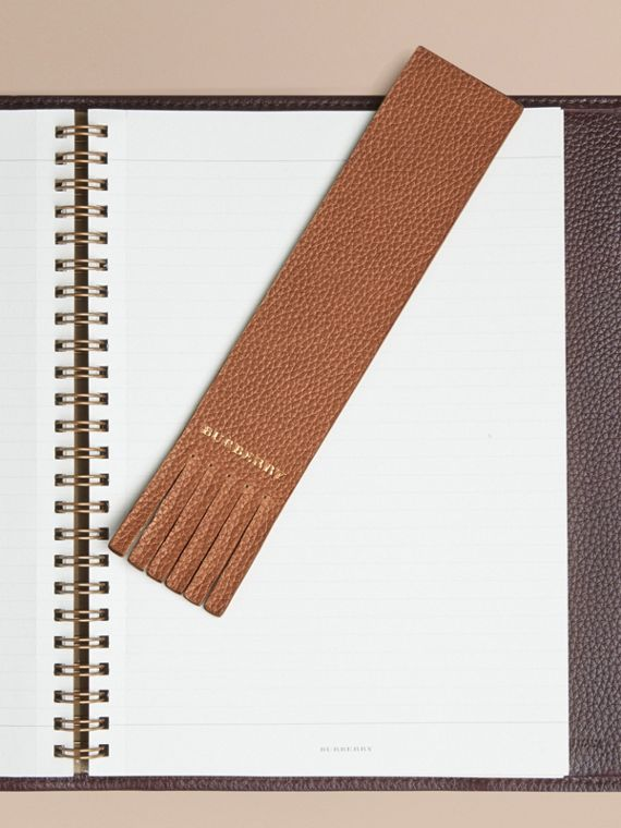 Grainy Leather Bookmark in Tan | Burberry Australia - cell image 2