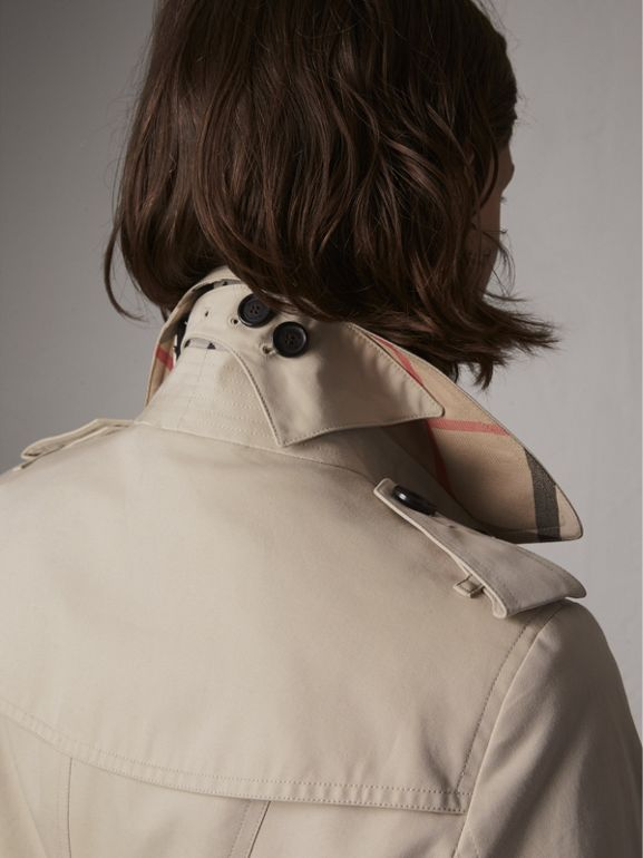 The Sandringham – Mid-length Trench Coat in Stone - Women | Burberry United States - cell image 1