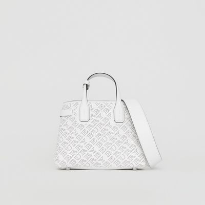 The Small Banner in Perforated Logo Leather