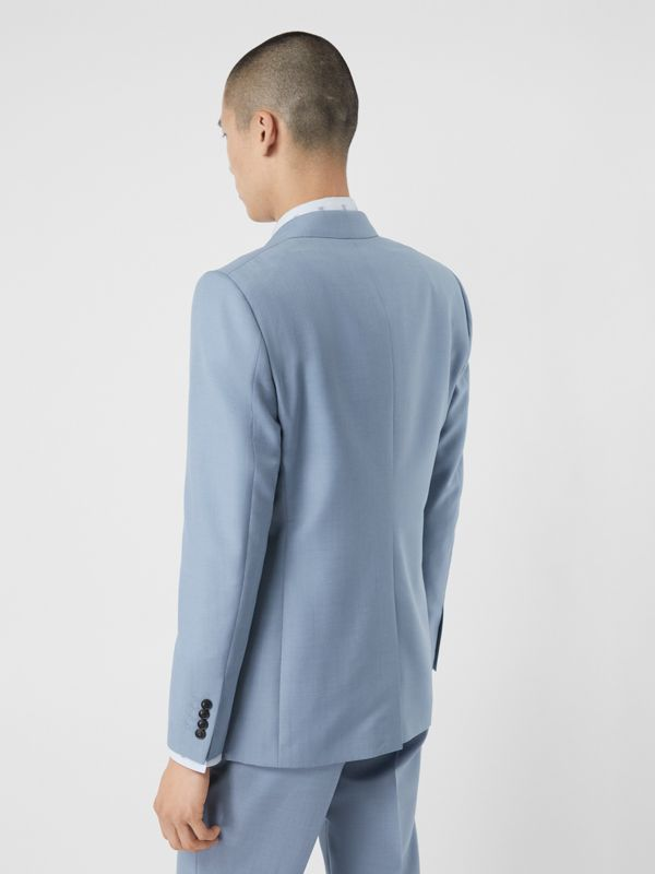 Classic Fit Wool Mohair Tailored Jacket in Pale Blue - Men | Burberry - cell image 2