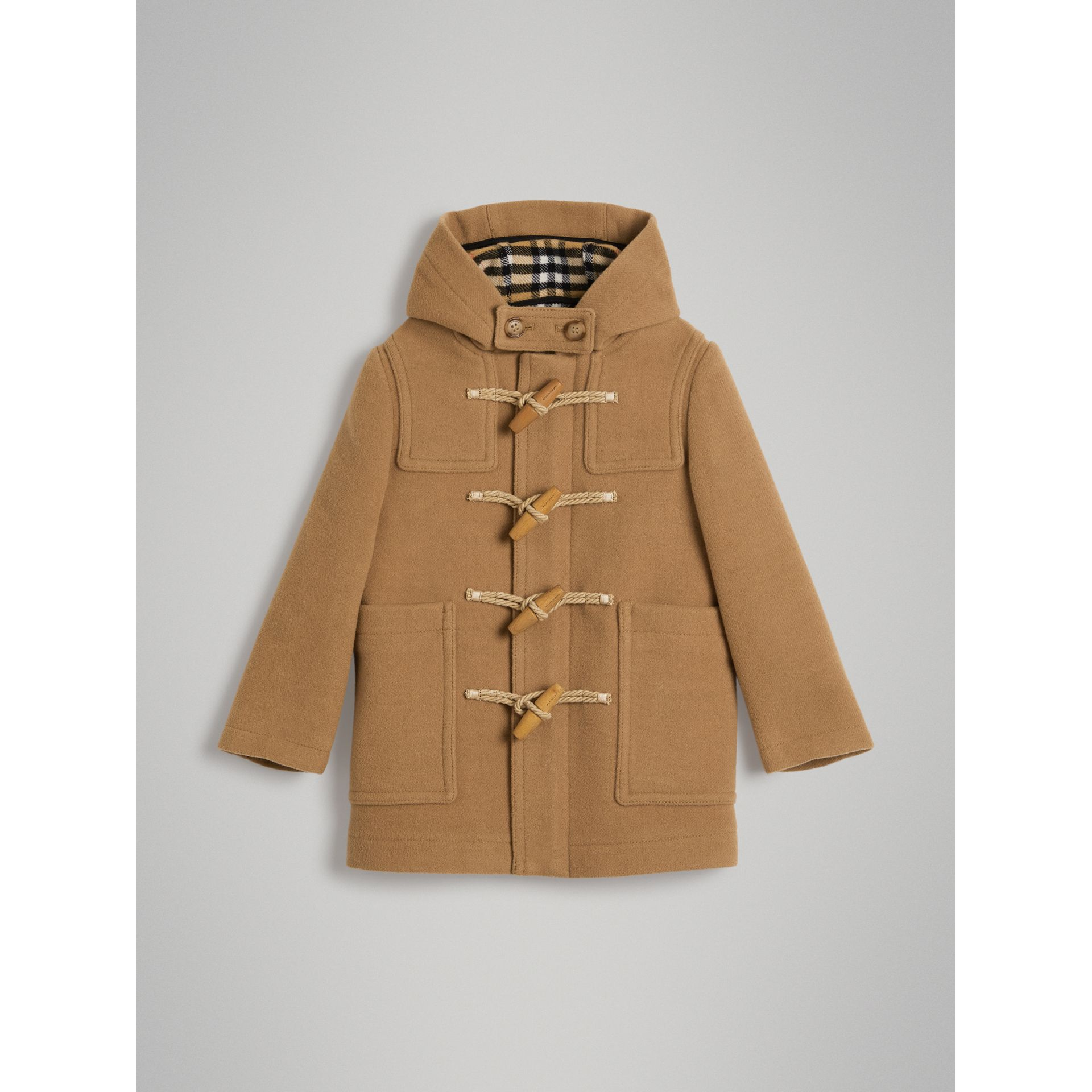 Double-faced Wool Duffle Coat in Antique Yellow | Burberry - gallery image 0