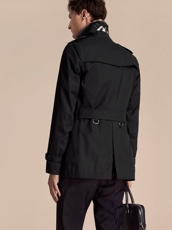 Black The Sandringham – Short Heritage Trench Coat Black - cell image 2