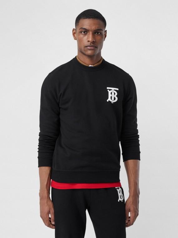 Sweat-shirt en coton Monogram (Noir)