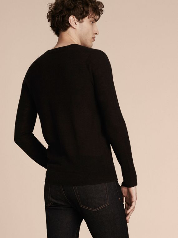 Black Cashmere V-neck Sweater Black - cell image 2