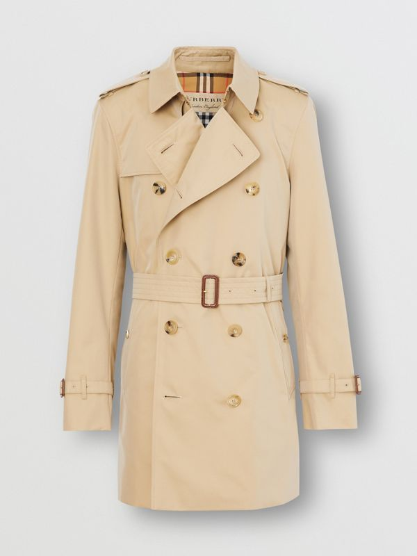 Short Chelsea Fit Trench Coat in Honey - Men | Burberry - cell image 2