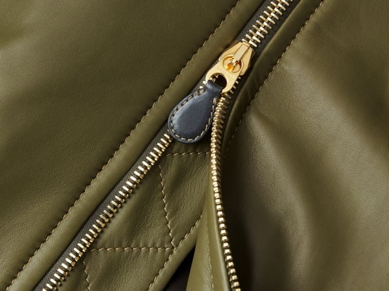 Light military green Lambskin Bomber Jacket - cell image 1
