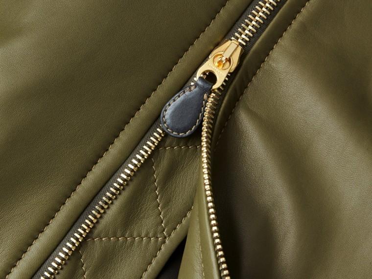 Светлый армейский зеленый Кожаная куртка «пилот» - cell image 1