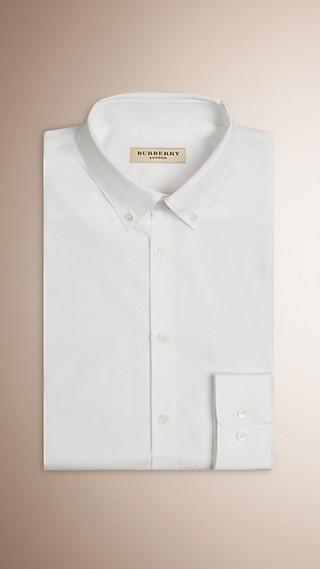Slim Fit Button-down Collar Cotton Poplin Shirt
