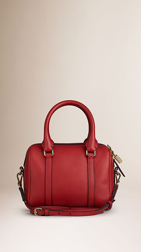 Parade red The Small Alchester in Leather - Image 3
