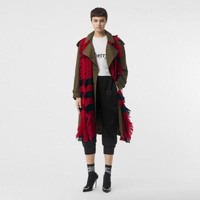 Burberry - Écharpe en laine à motif check et à franges - 6