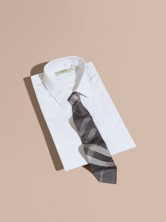 Modern Cut Beat Check Silk Tie - Men | Burberry - cell image 3
