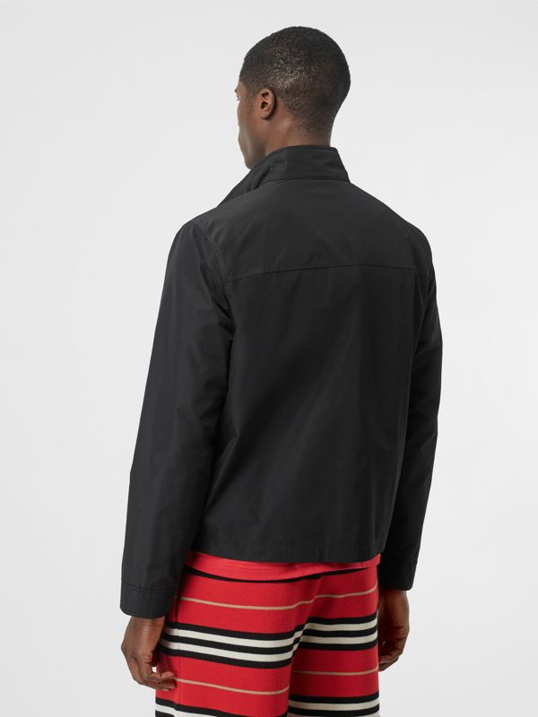 Monogram Motif Shape-memory Taffeta Jacket in Black - Men | Burberry Singapore - cell image 2