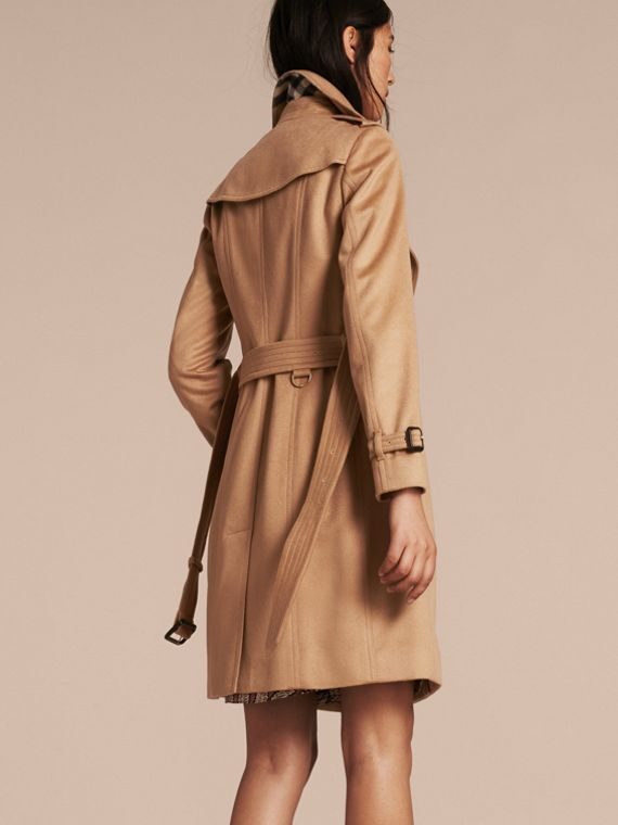 Sandringham Fit Cashmere Trench Coat in Camel - cell image 2