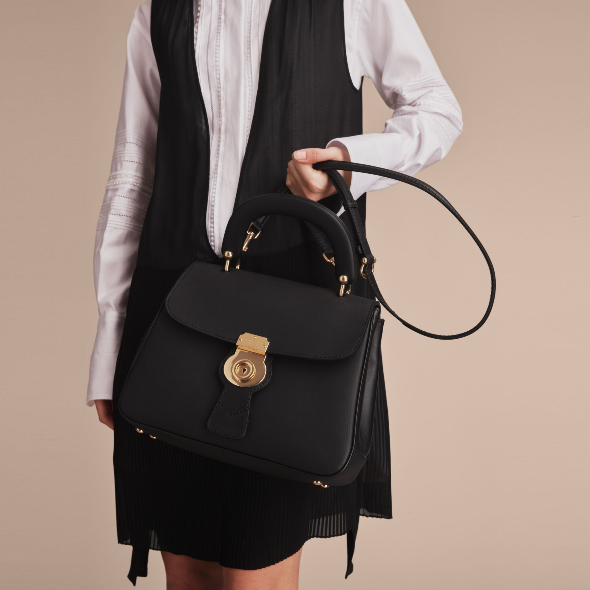 The Medium DK88 Top Handle Bag in Black - Women | Burberry - gallery image 8