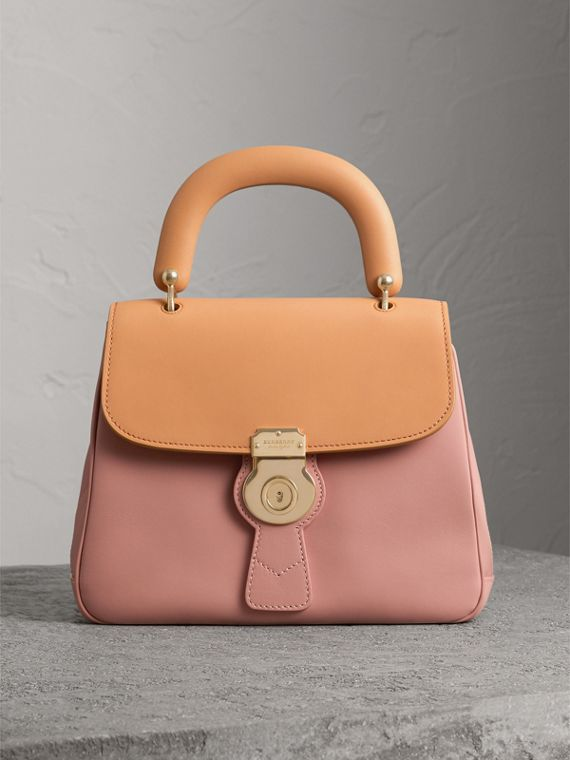 The Medium DK88 Top Handle Bag in Ash Rose/pale Clementine