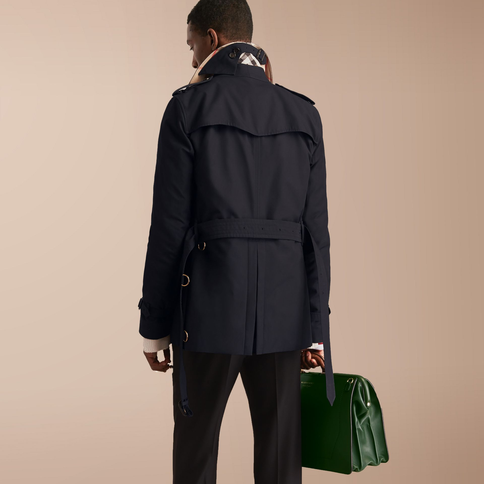 The Kensington – Short Heritage Trench Coat in Navy - gallery image 3