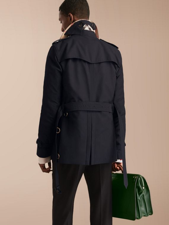 The Kensington – Short Heritage Trench Coat Navy - cell image 2