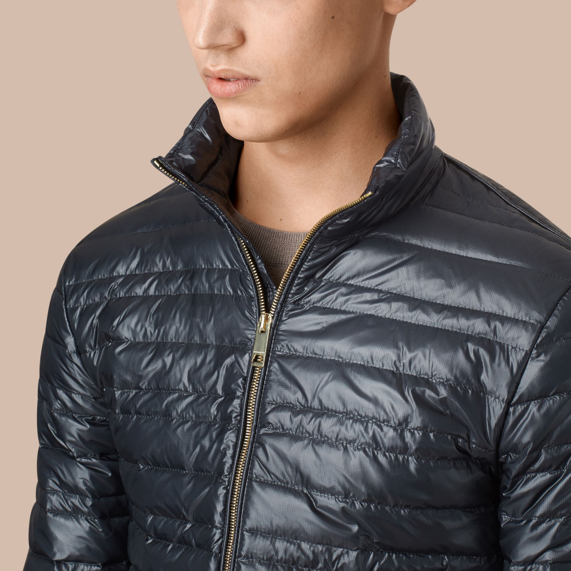 Lightweight Down-filled Jacket Navy - gallery image 4
